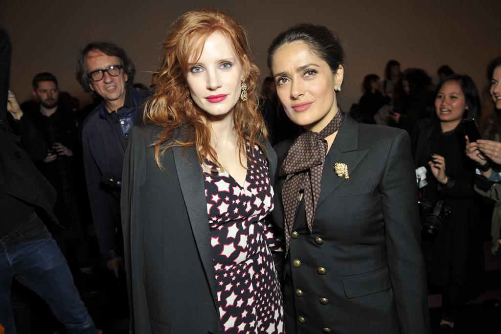 Jessica Chastain and Salma Hayek