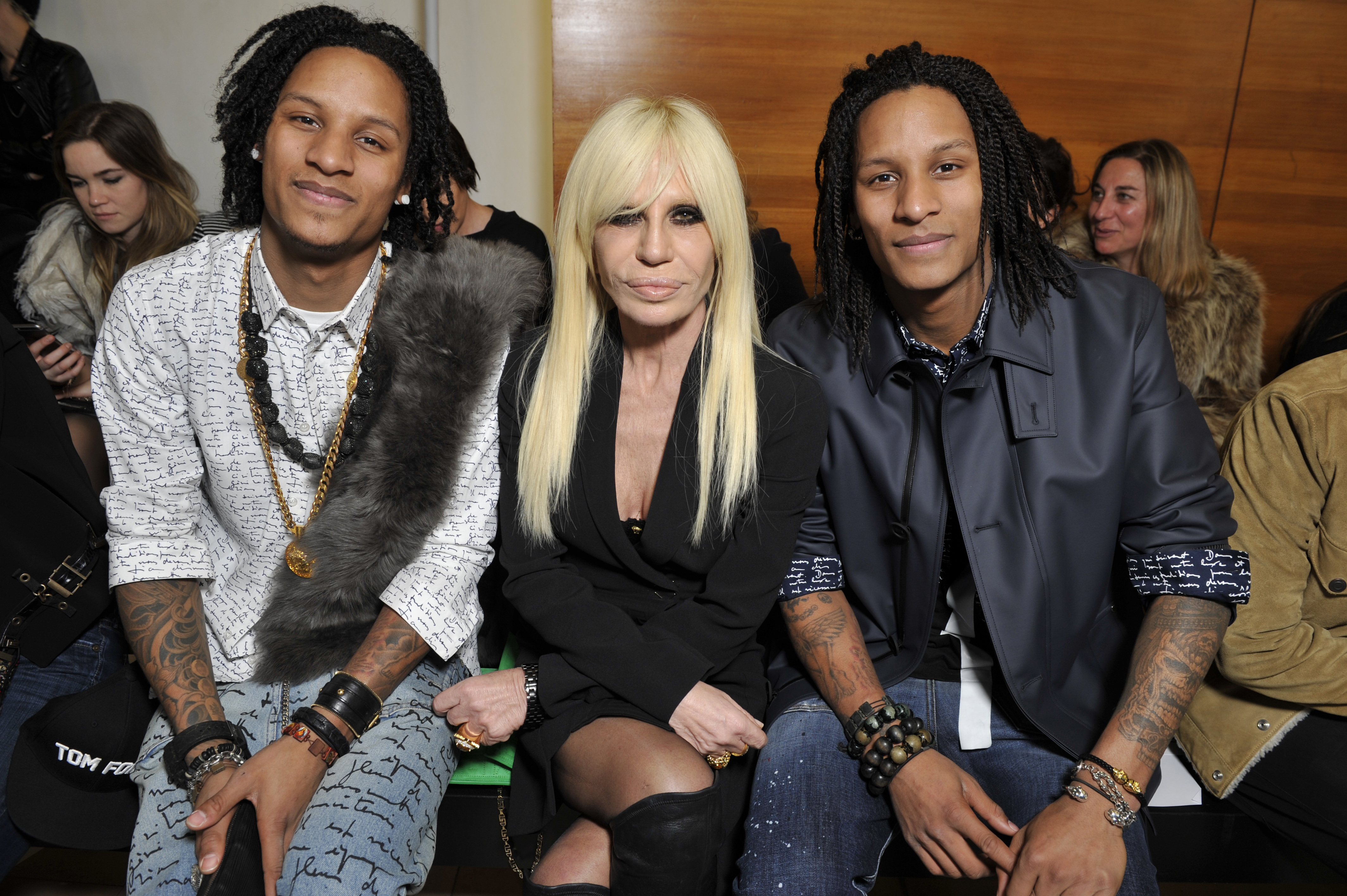 Les Twins and Donatella Versace