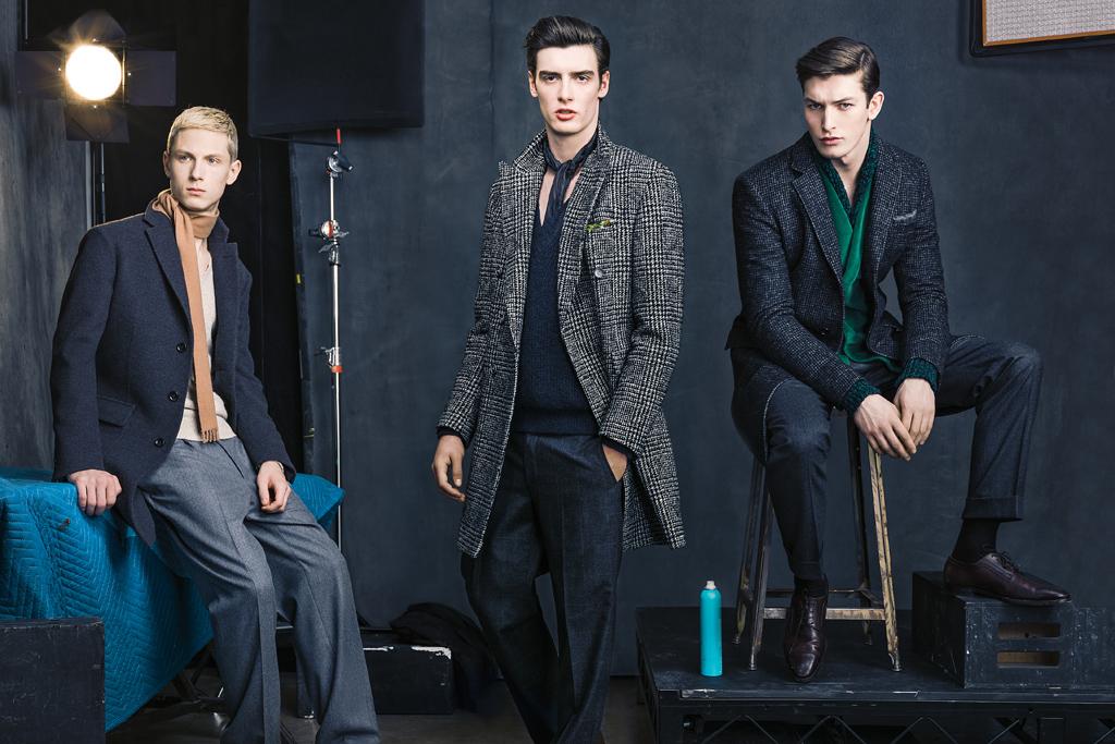 left:  Boglioli's wool jacket; Paul Smith's wool, silk and a