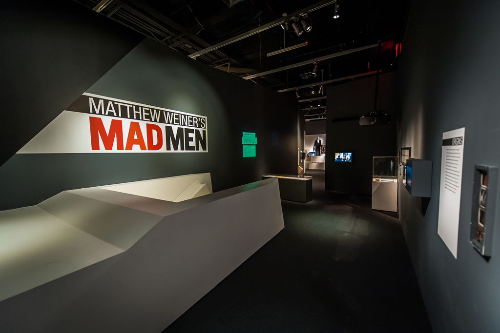 A glimpse of the Mad Men exhibition at The Museum of The Moving Image.