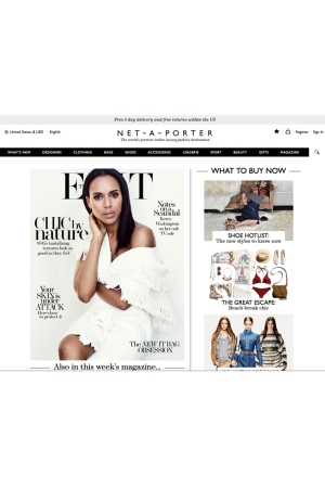 The Net-a-Porter homepage.