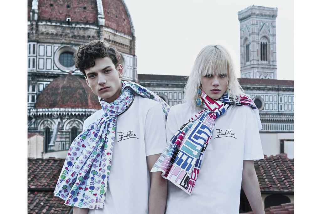 """Massimo Giorgetti dubs this photo of models on the roof of Palazzo Pucci as a """"declaration of intention."""""""