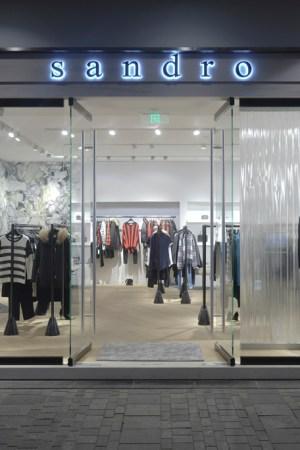A Sandro store in Beijing.