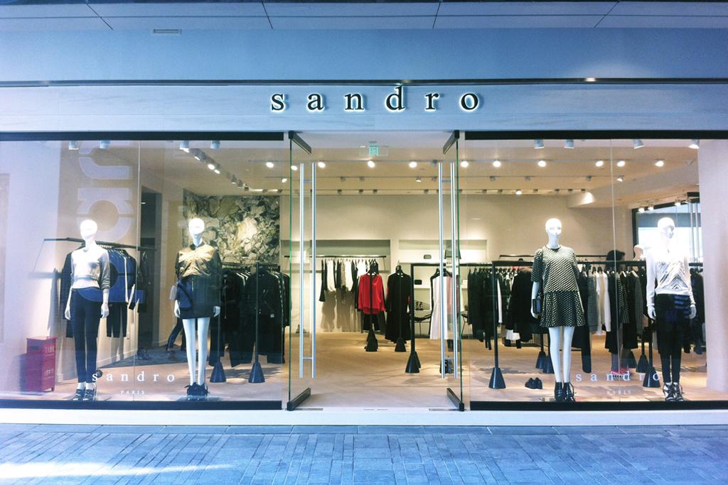 Sandro's Beijing Sanlitun store.