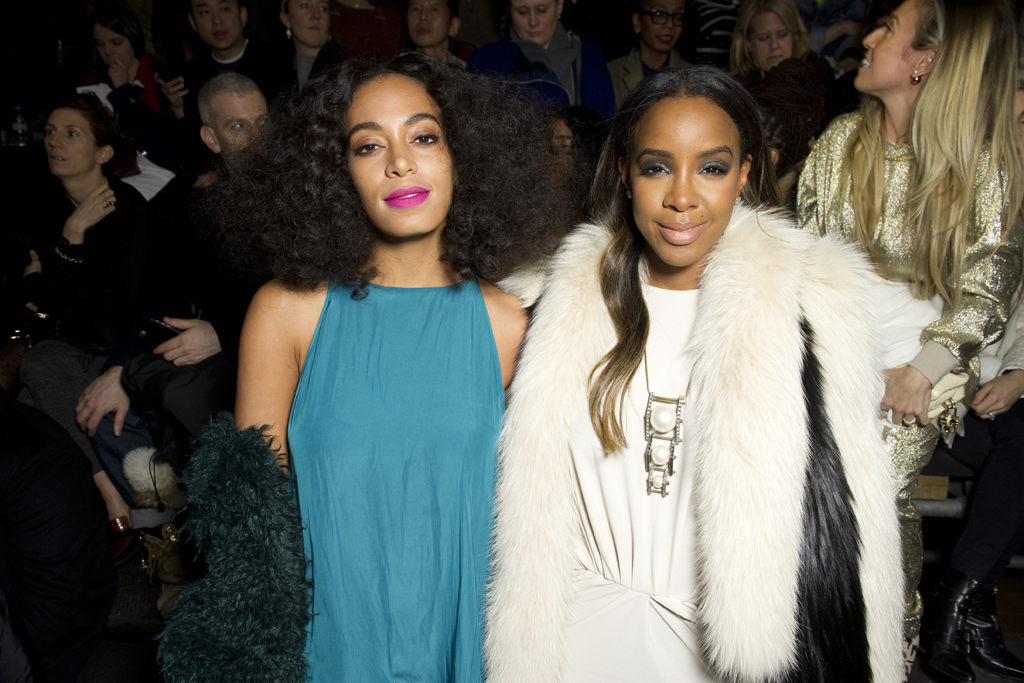 Solange Knowles and Kelly Rowland