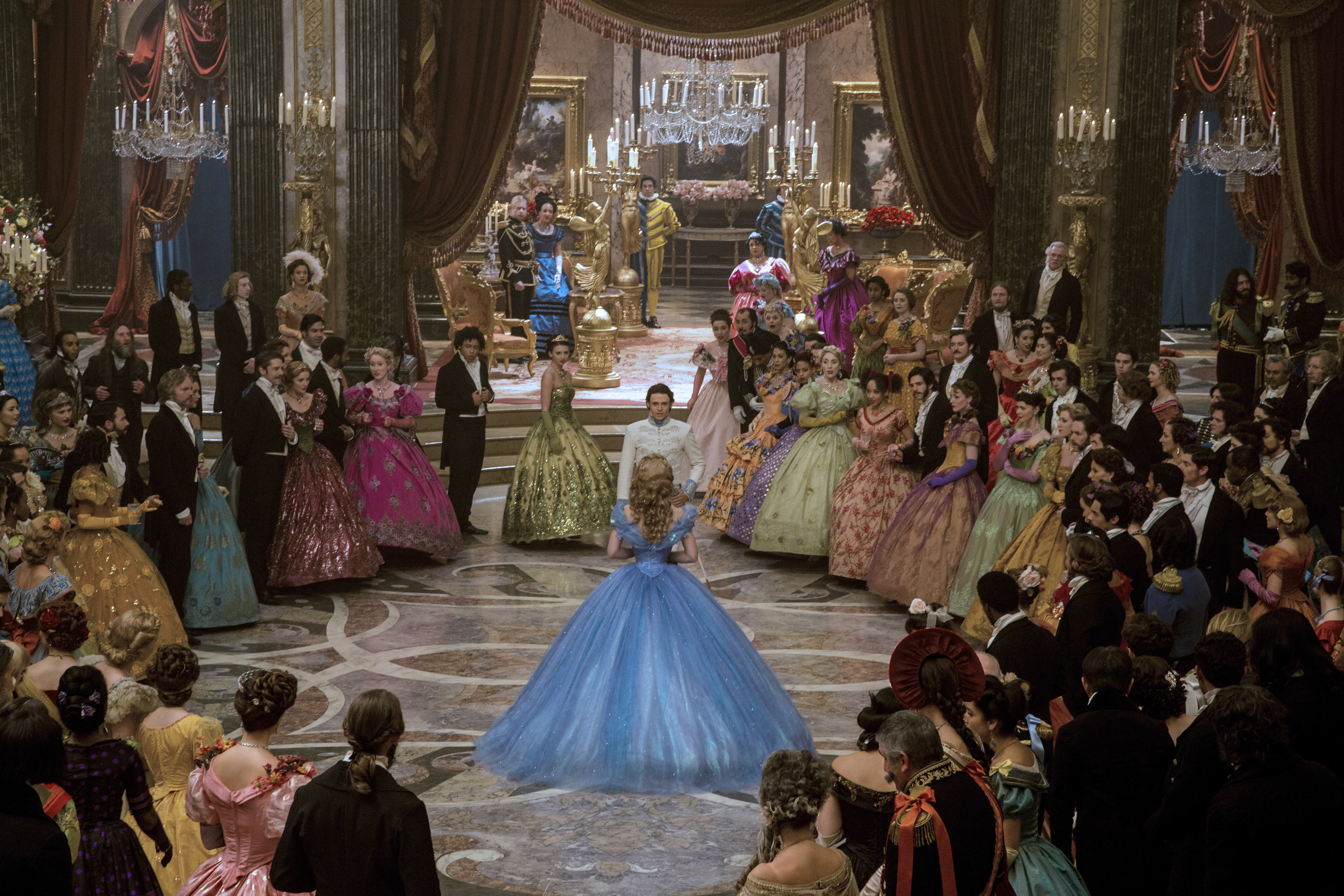 Disney's Cinderella used 1.7 million crystals in costumes and set.