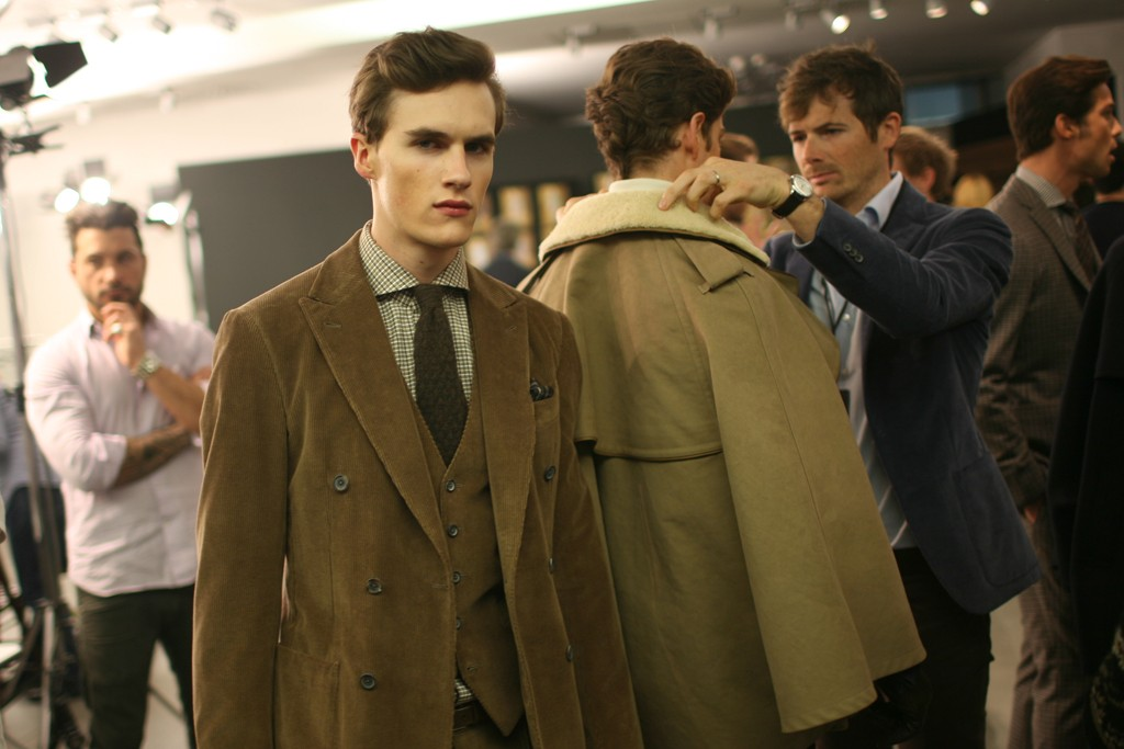 Backstage at Ermenegildo Zegna Men's RTW Fall 2012