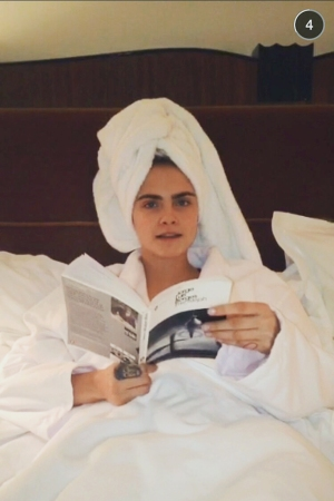 Snapchat, Cara Delevigne, Burberry