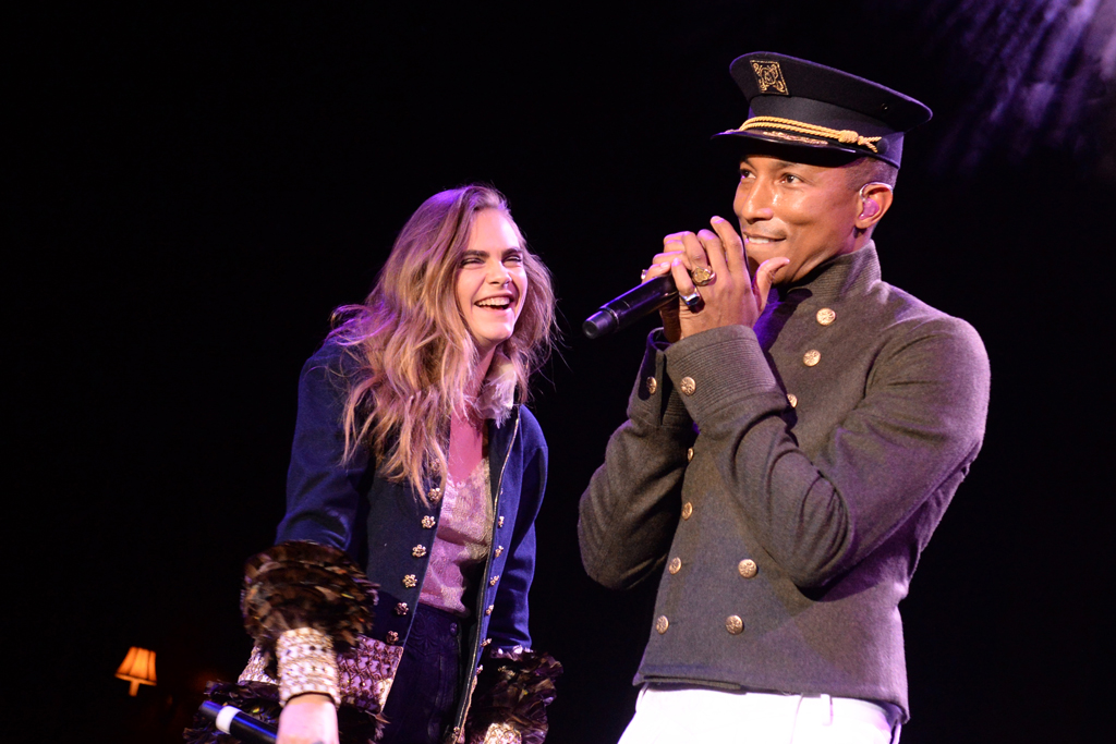 Cara Delevingne and Pharrell