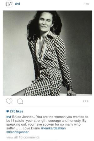 Diane von Furstenburg, Bruce Jenner, Instagram