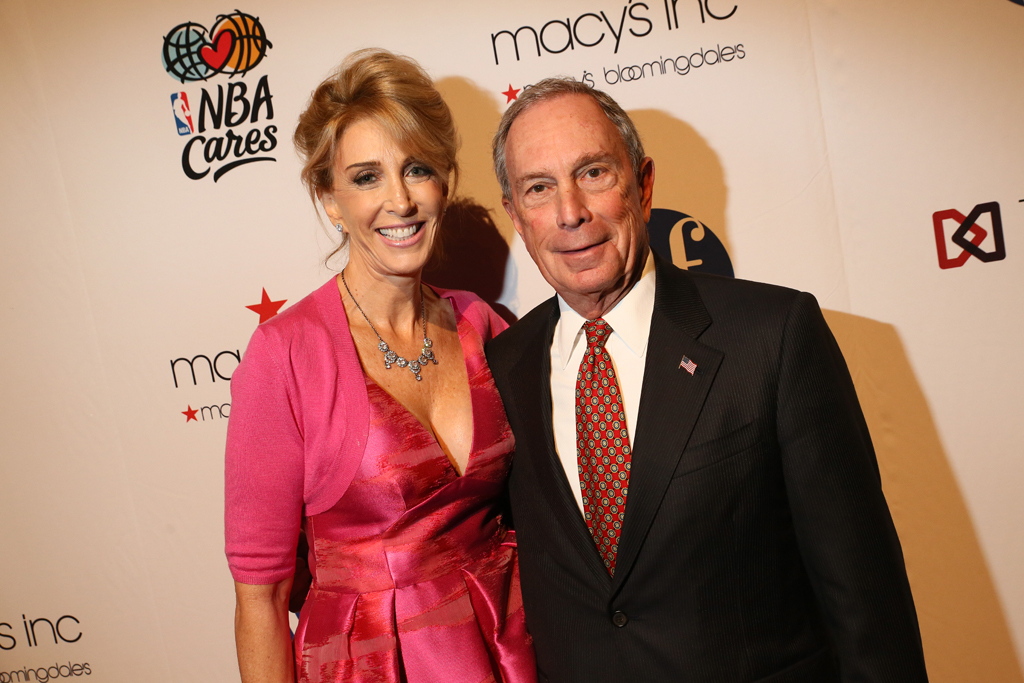 Karen Murray and Michael Bloomberg