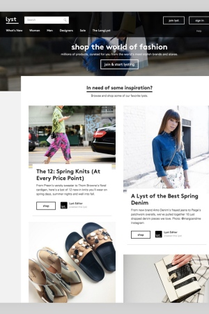 The Lyst website.