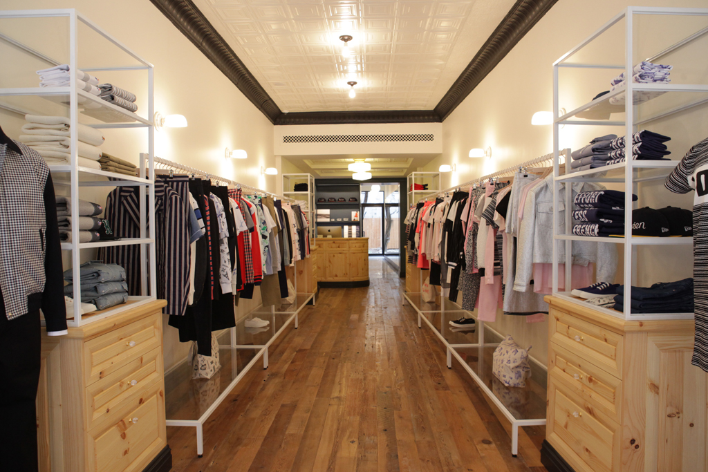 Inside the Maison Kitsune store in New York.