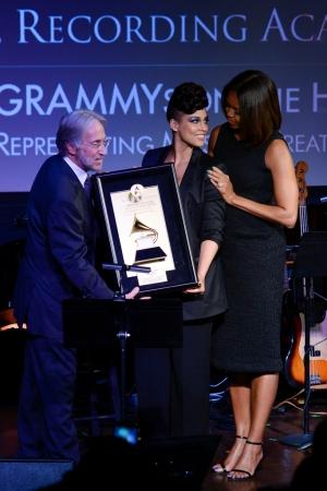 Neil Portnow, Michelle Obama, Alicia Keys
