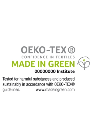 The OEKO-TEX Made in Green Traceable Consumer label.