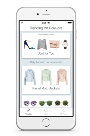 Polyvore's new Remix app.