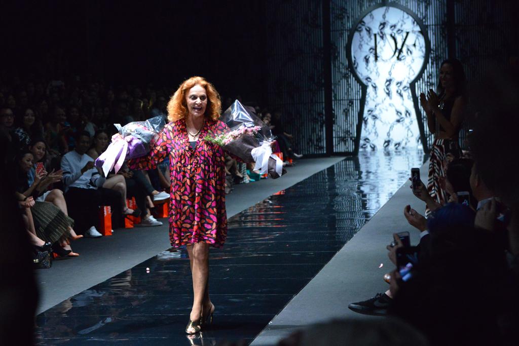 Diane von Furstenberg shows in Singapore