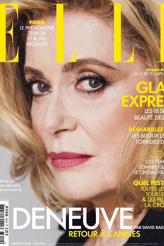 Catherine Deneuve on the cover the May 7 issue of Elle France