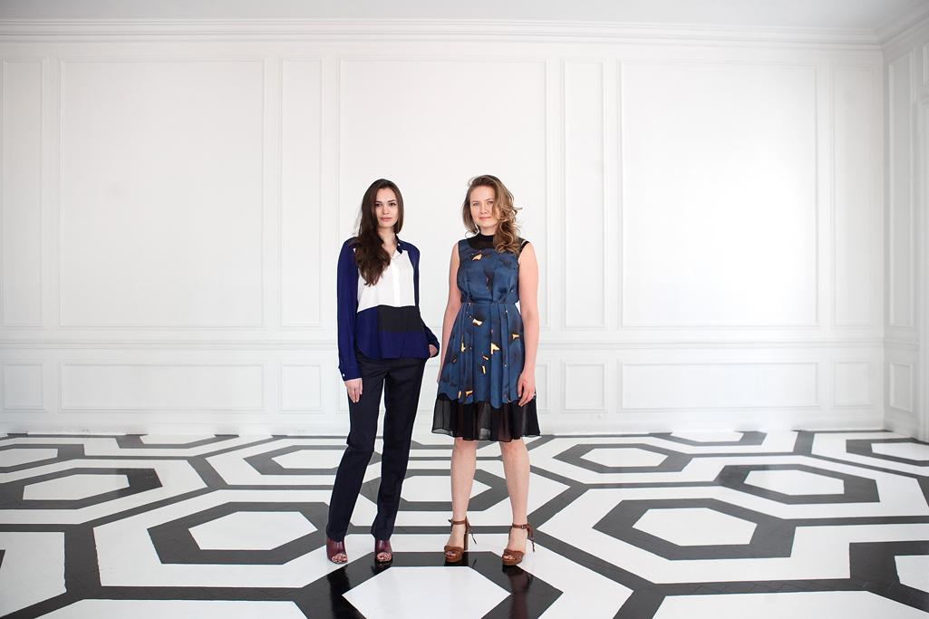 Anastasiya Siro and Victoria Golembiovskaya at the Academy Mansion in New York.