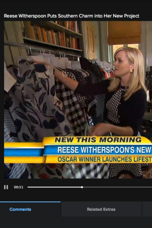 """Reese Witherspoon during on appearance on """"Good Morning America"""" on Monday."""
