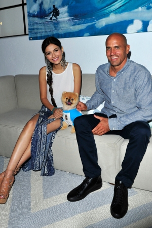 Victoria Justice, Jiff and Kelly Slater