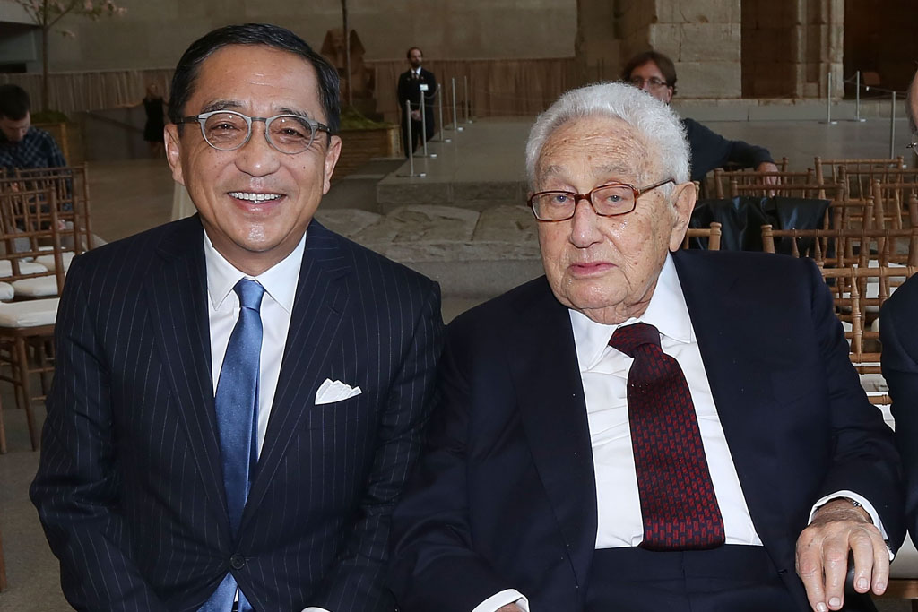Silas Chou and Henry Kissinger