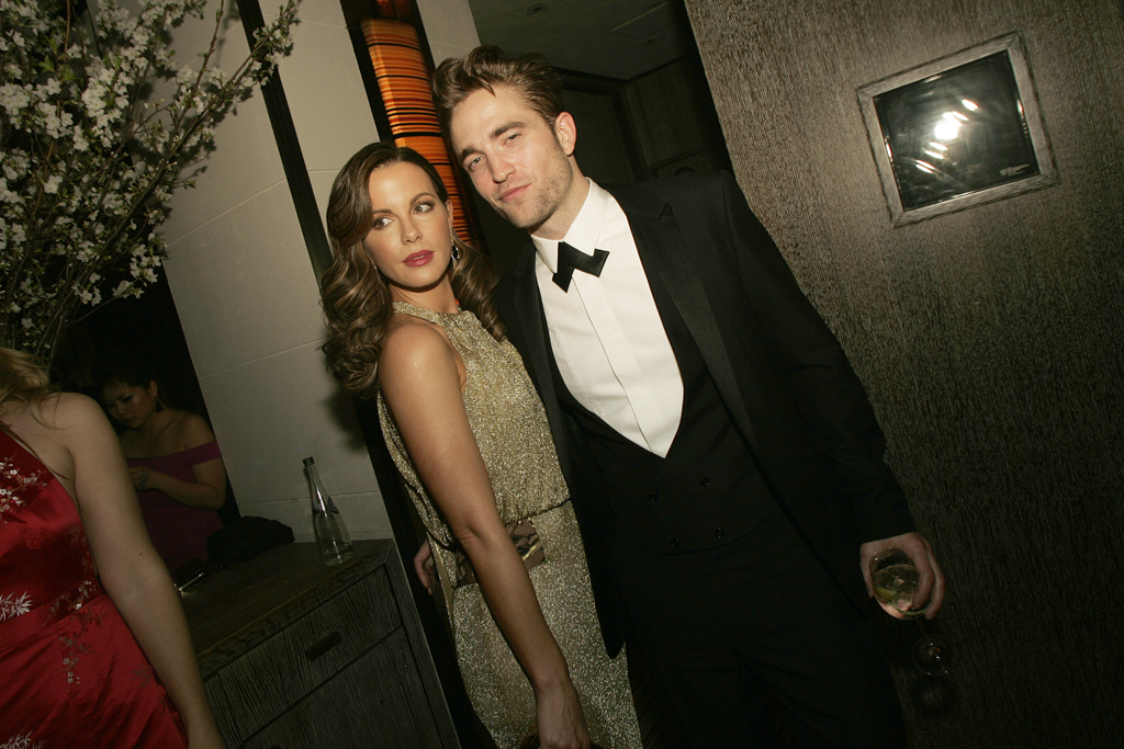 Kate Beckinsale in Diane Von Furstenberg and Robert Pattinson.