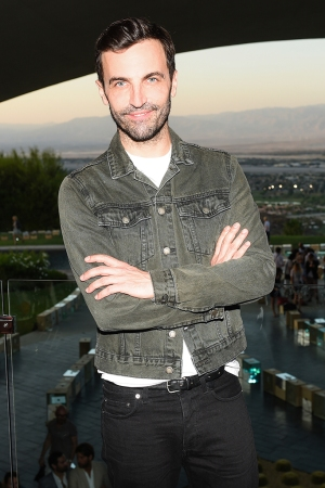 Nicolas Ghesquiere at Louis Vuitton's Cruise show.