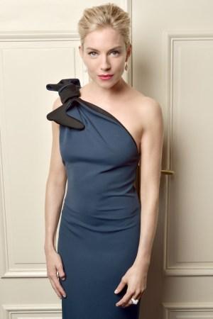 Sienna Miller in Lanvin and Atelier Swarovski jewels.