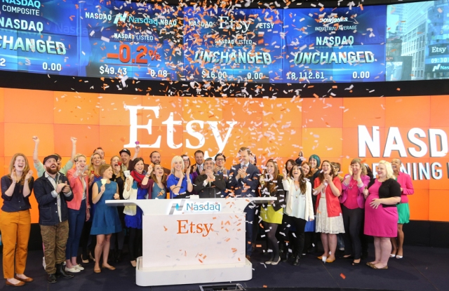 Online hand-crafted marketplace Etsy completes its initial public offering.
