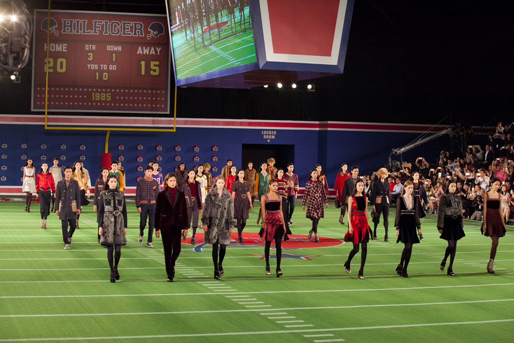 The scene at the Tommy Hilfiger fall 2015 runway show in Beijing.