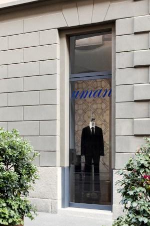 Façade of Uman's first shop on Via Gesù
