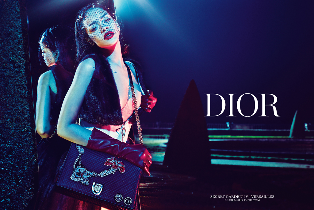 Rihanna featured in Dior ad campaign shot by Steven Klein.