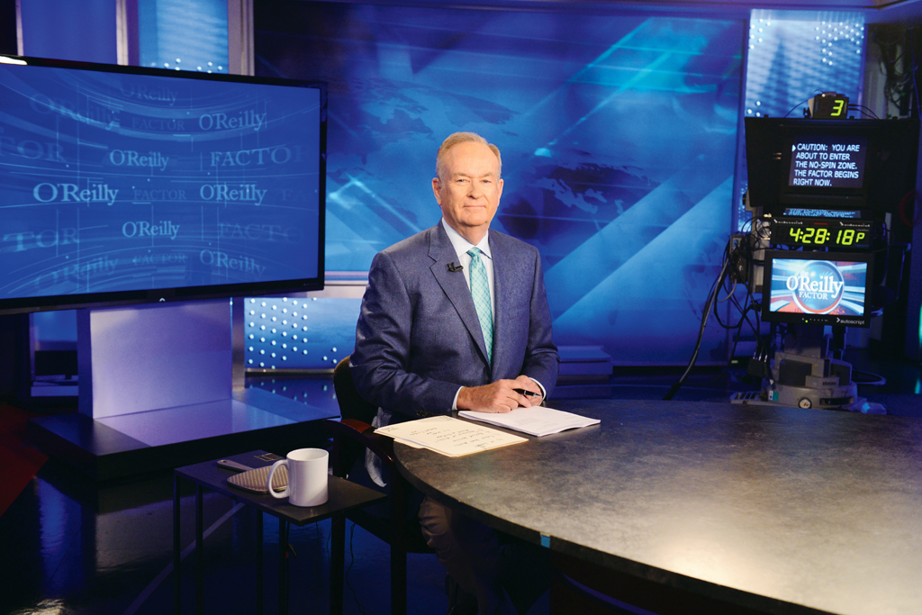 "Bill O'Reilly on set at ""The O'Reilly Factor."""