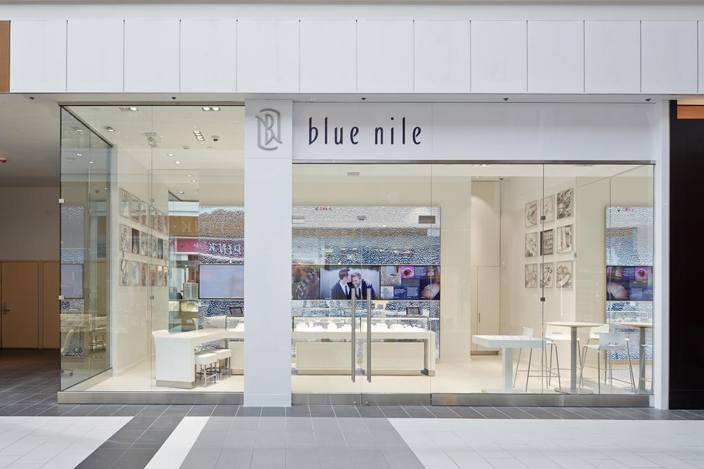 Outside the Blue Nile store.