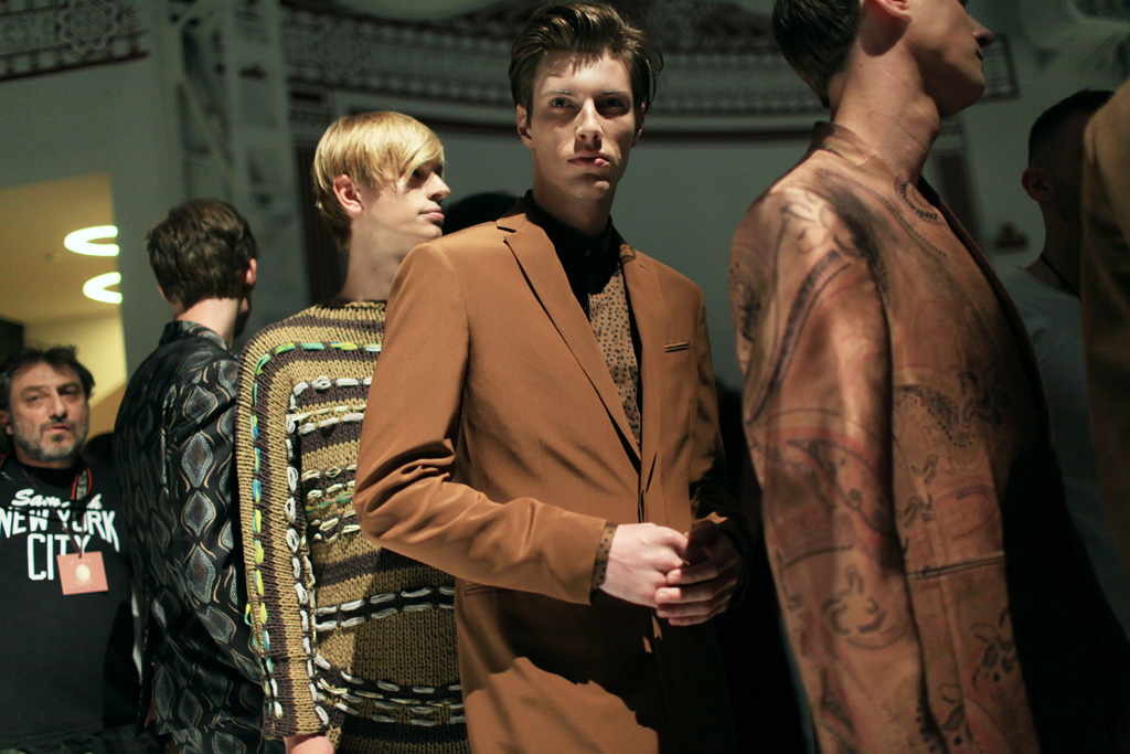 Models backstage at Etro Men's RTW Spring 2016