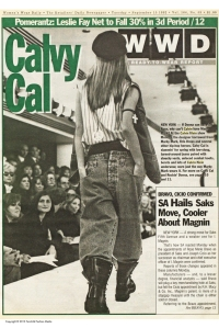 WWD covered Calvin's first hip-hop show in September 1992.