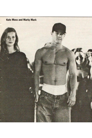 Kate Moss and Mark Wahlberg