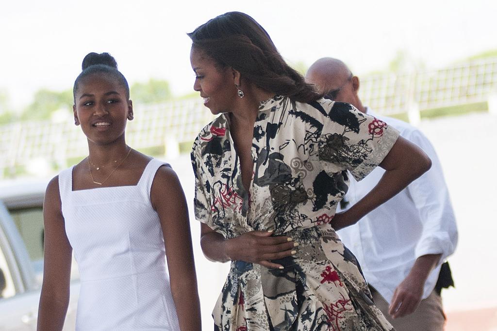 Sasha Obama, Michelle Obama, Donna Karan