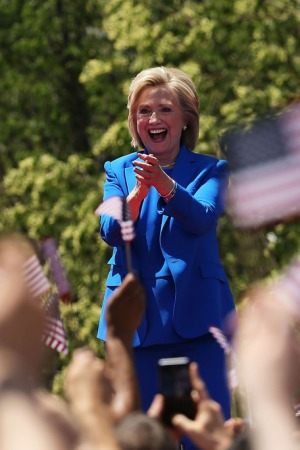 Hillary Clinton wears Ralph Lauren at official presidential campaign.