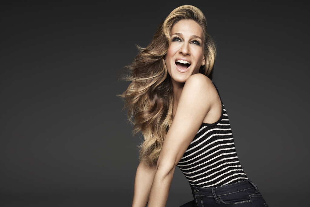 Sarah Jessica Parker for The Jordache Look Collection available online.