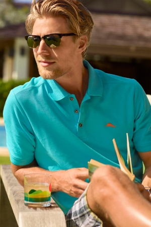 A look from Tommy Bahama and Maui Jim.