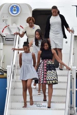 Michelle Obama arrives in Milan
