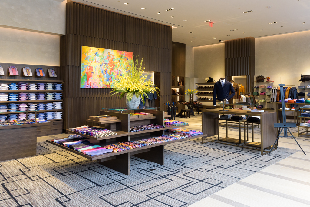 Inside the Paul Stuart store in downtown Washington's CityCenterDC.