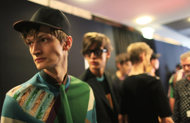 Backstage at Salvatore Ferragamo Men's RTW Spring 2016