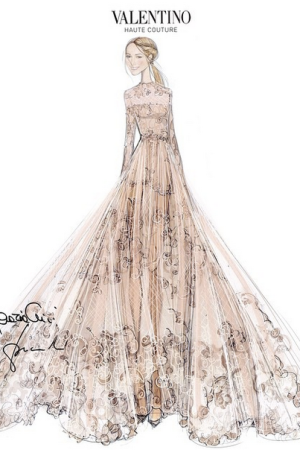 Frida Giannini Wedding Dress Sketch