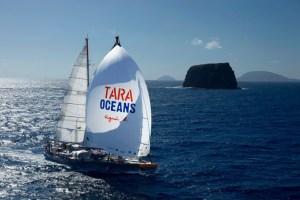 Tara Oceans out at sea.