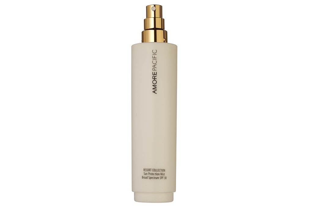 Amore Pacific Sun Protection Mist, $75  The weightless spray protects from UVA and UVB rays, and hydrates and cools skin with matsutake mushroom.
