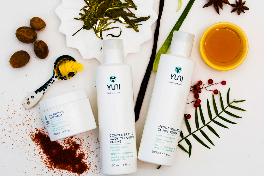 An assortment of products from Yuni.