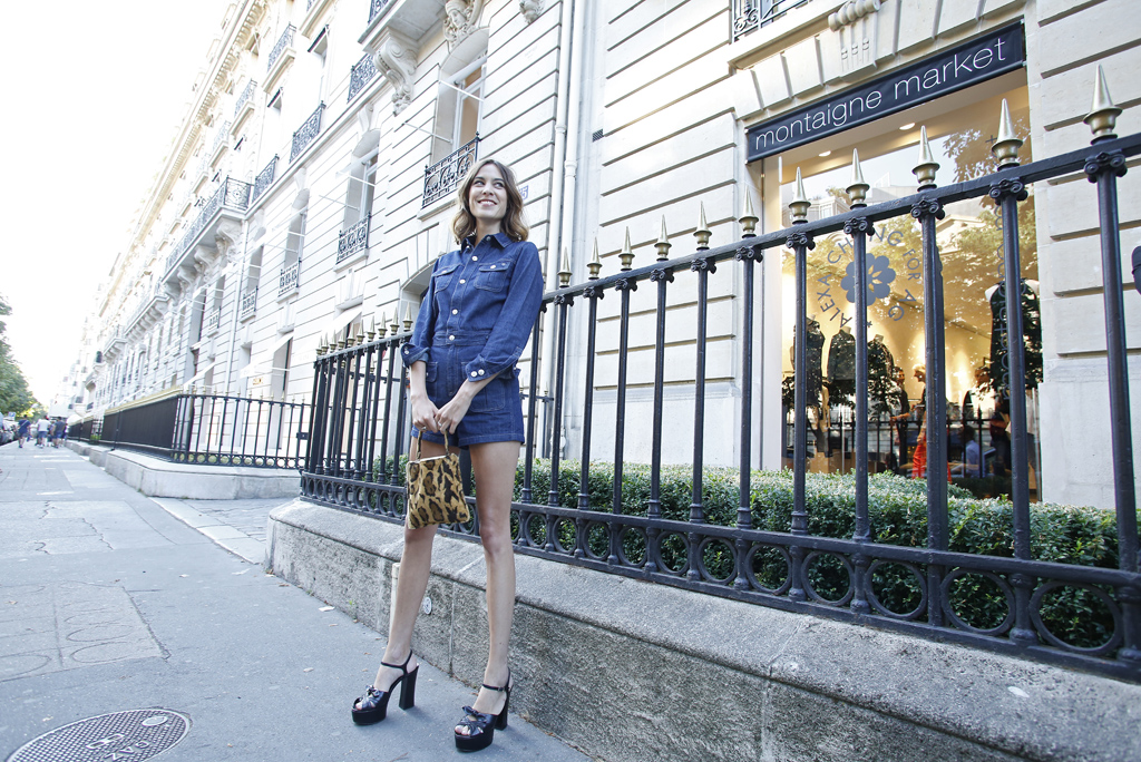Alexa Chung at the cocktail hosted by AG Jeans
